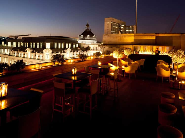 Aqua spirit rooftop bar in London
