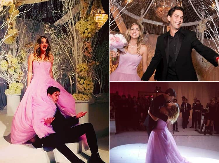 Photos of Kaley Cuoco's wedding day from Instagram