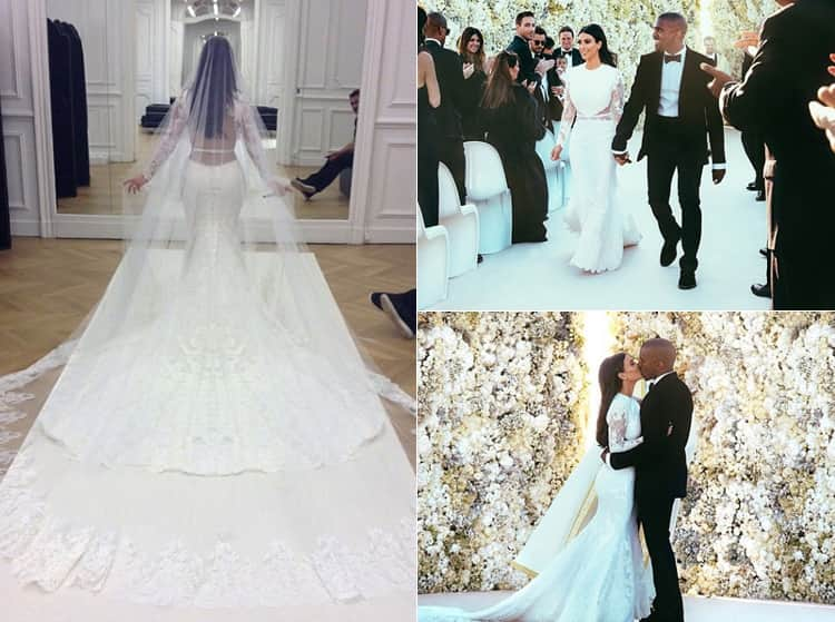 Images of Kim Kardashian's wedding day from Instagram