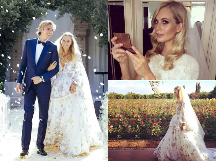 Images of Poppy Delevingne's wedding day from Instagram