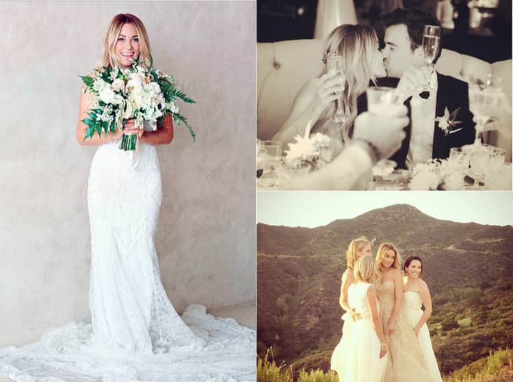 Images of Lauren Conrad's wedding day from Instagram