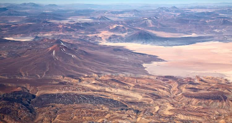 The landscape of the Atacama Desert