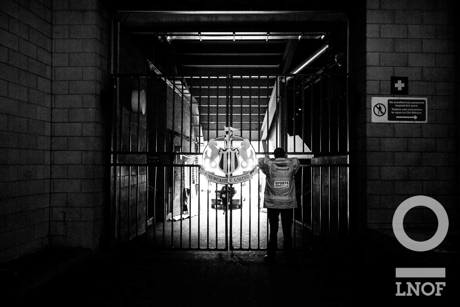 The gates to St James' Park