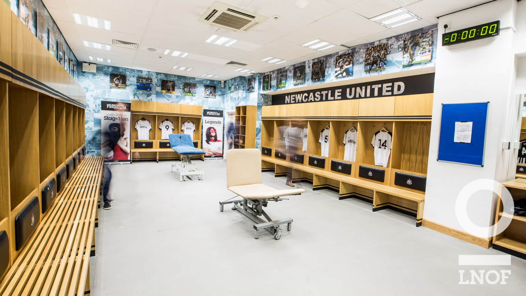 NUFC changing rooms