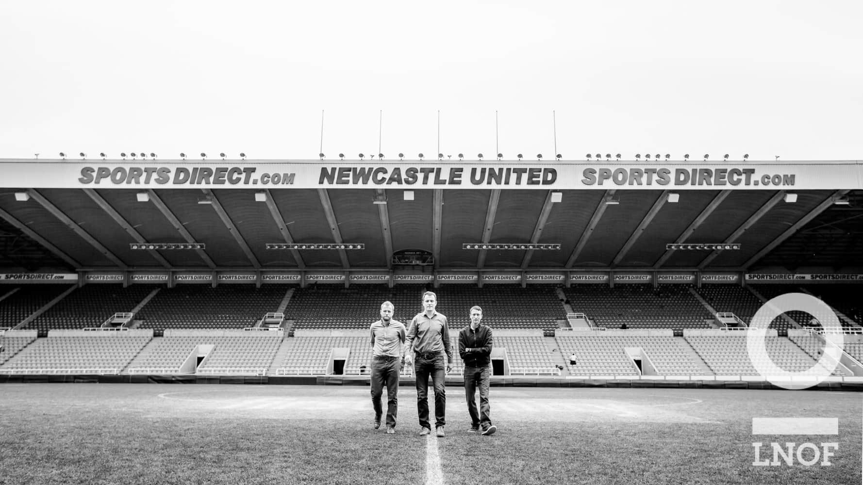Andrew Matt and Sean at NUFC home ground
