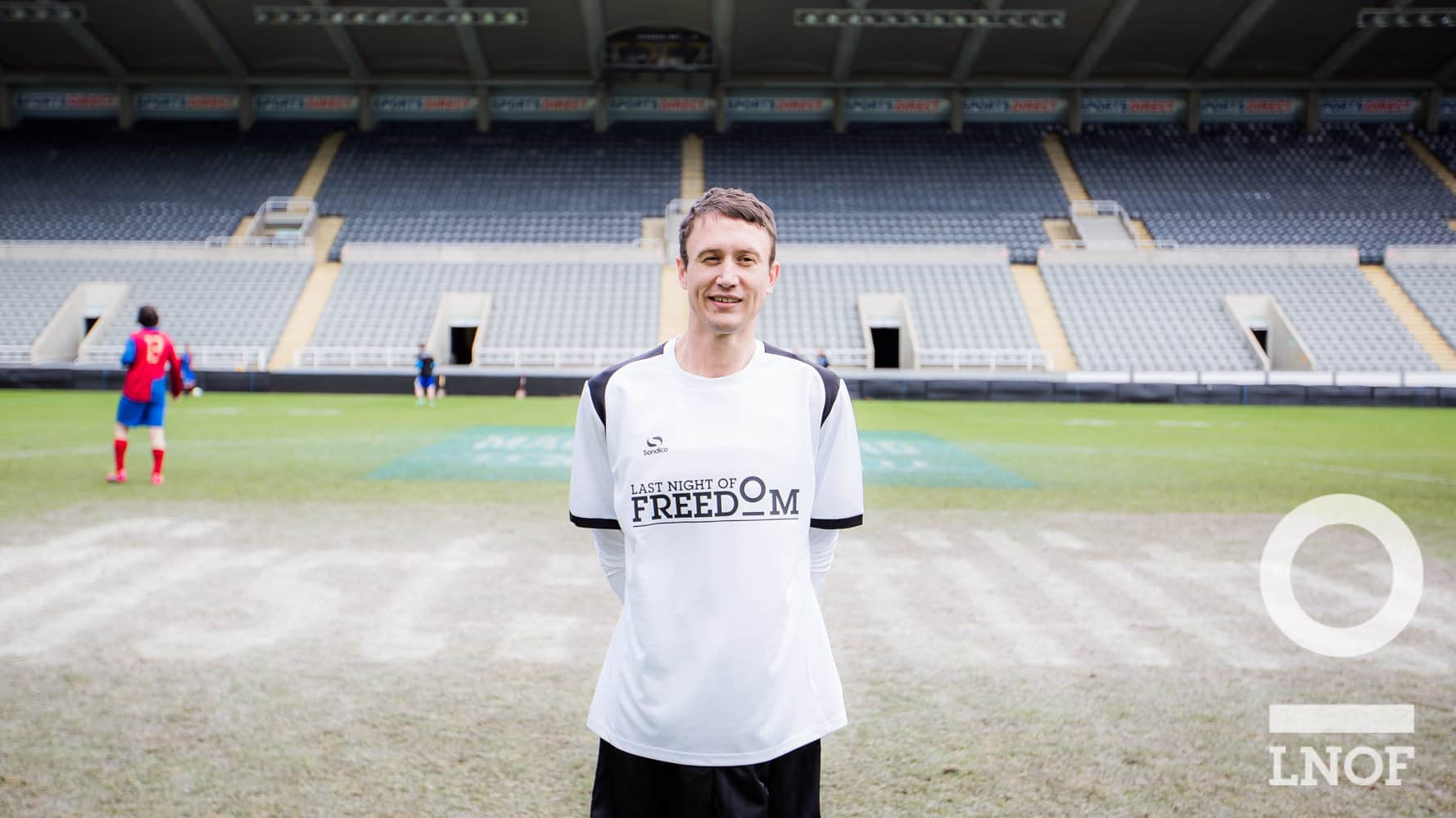Sean Palmer on the pitch at St James'