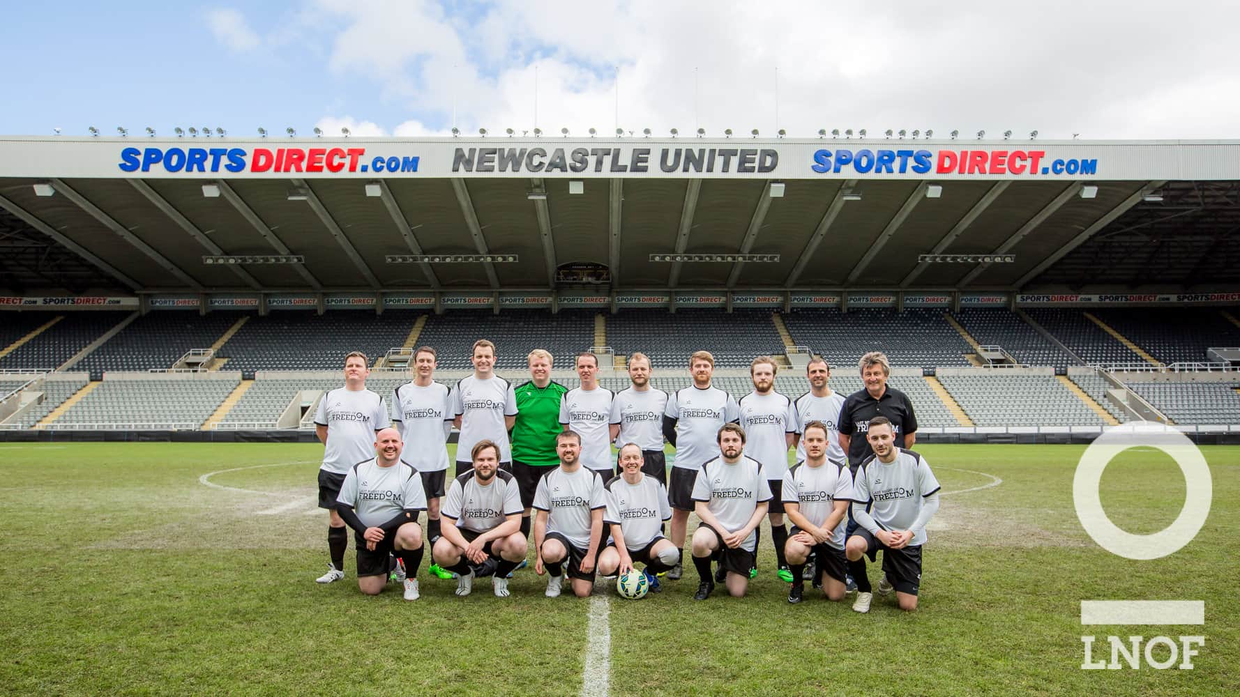 LNOF FC on the pitch at St James'