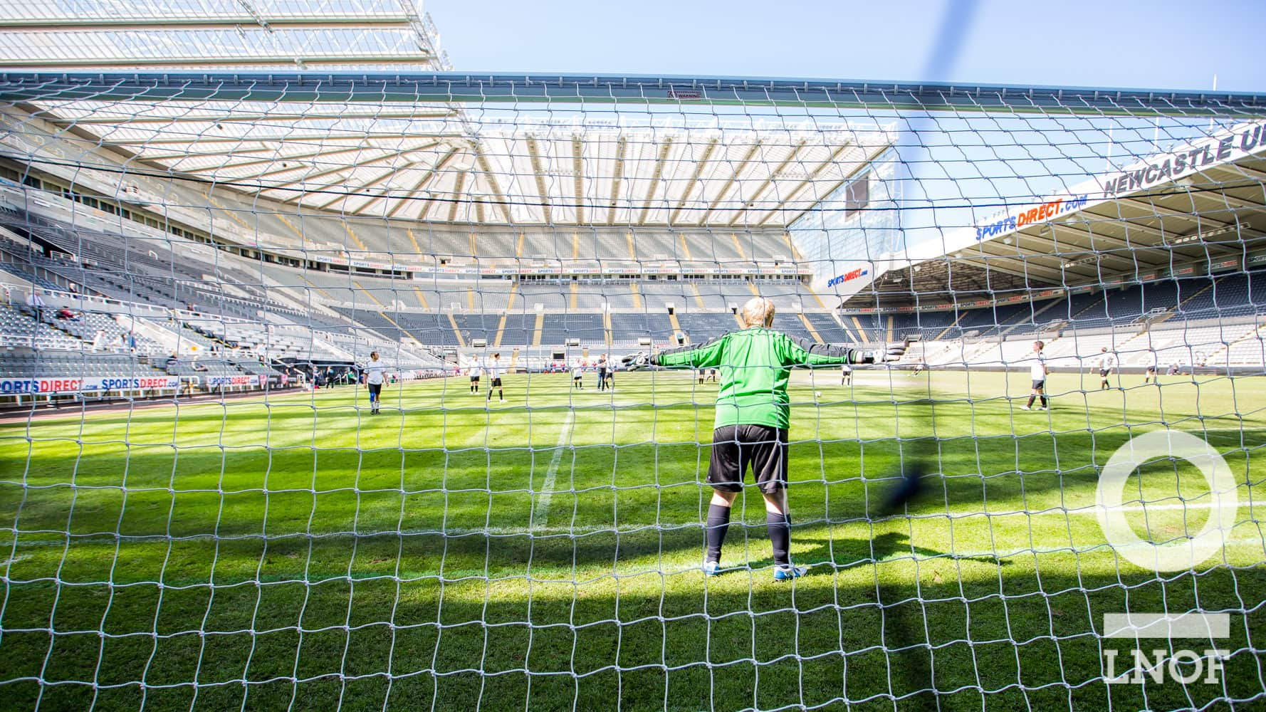 St James' Park from behind the goal