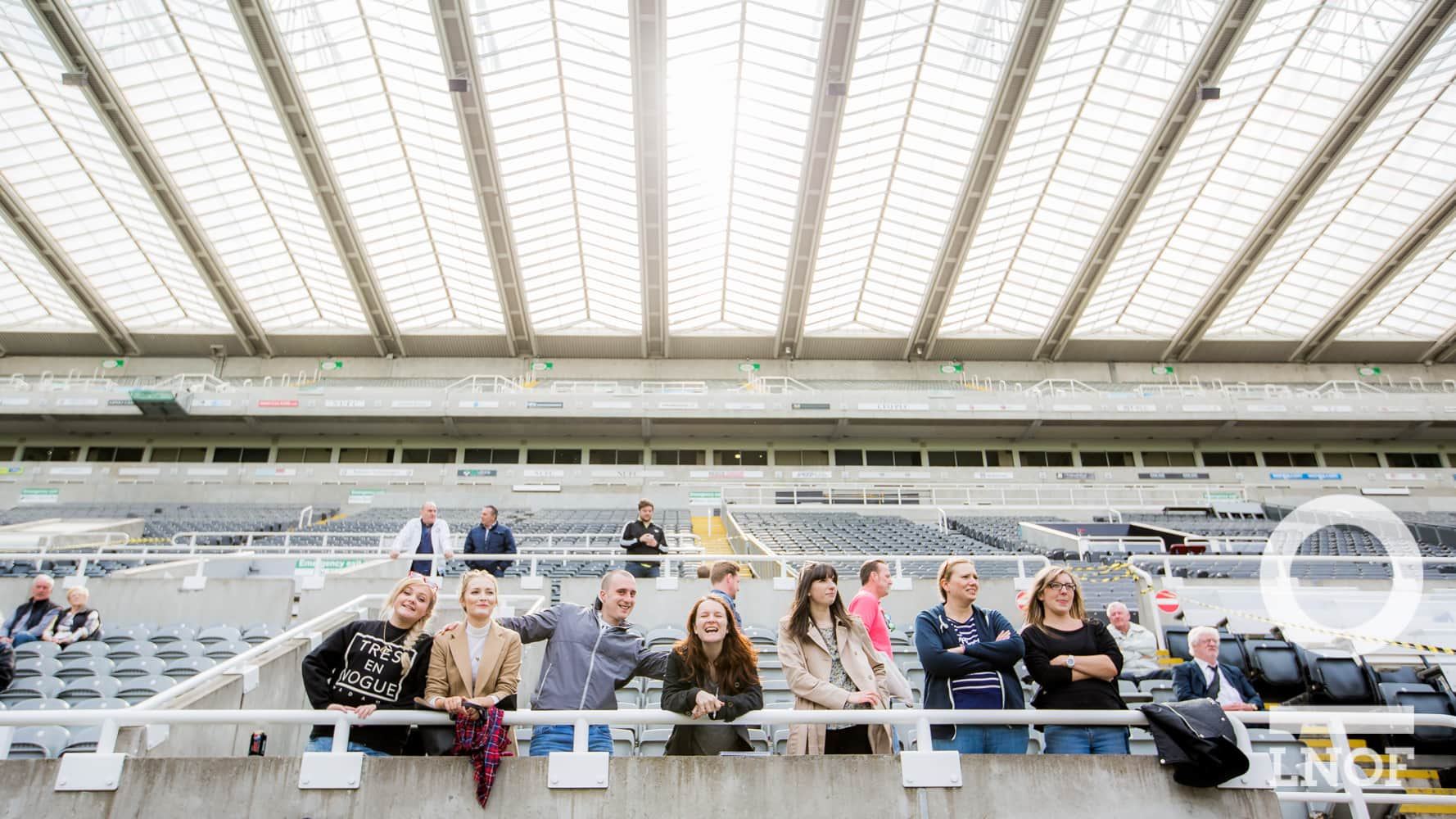 Spectators at St James' Park