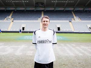 Sean Palmer on the pitch at St James