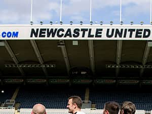 The LNOF boys underneath Newcastle United Sign