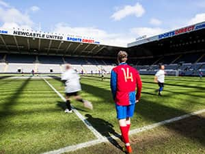 Running on the pitch at St James'