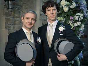 Sherlock and Watson, Benedict Cumberbatch and Mart