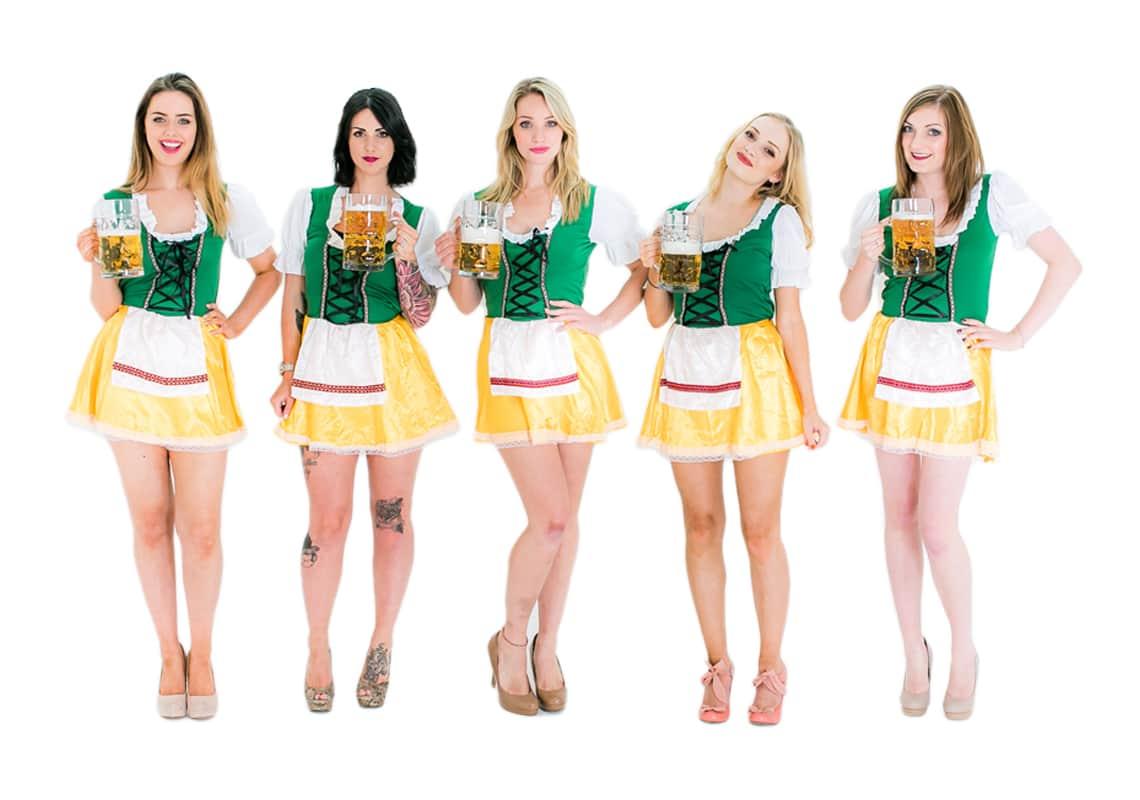 Bavarian beer girl costumes