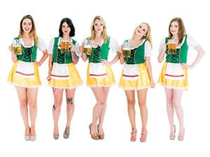 Bavarian themed hen night costume accessories