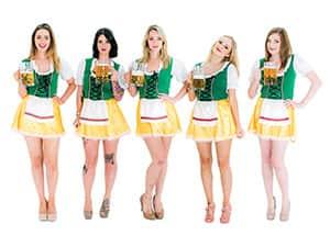 Bavarian themed hen night costume accessories