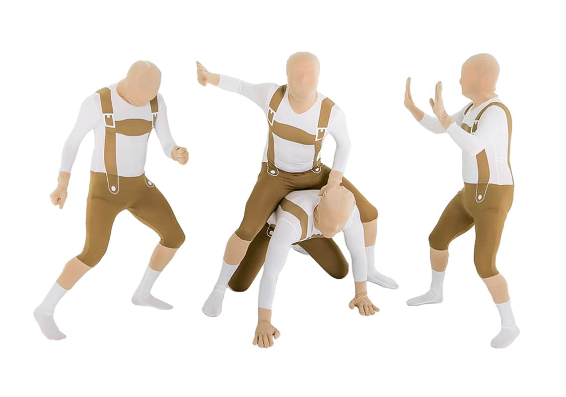 Guys in Lederhosen Morphsuits