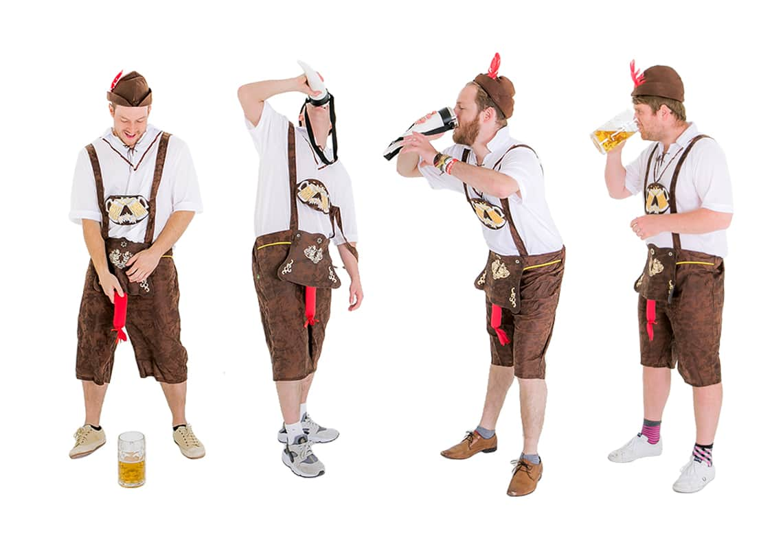 German themed costumes with beer