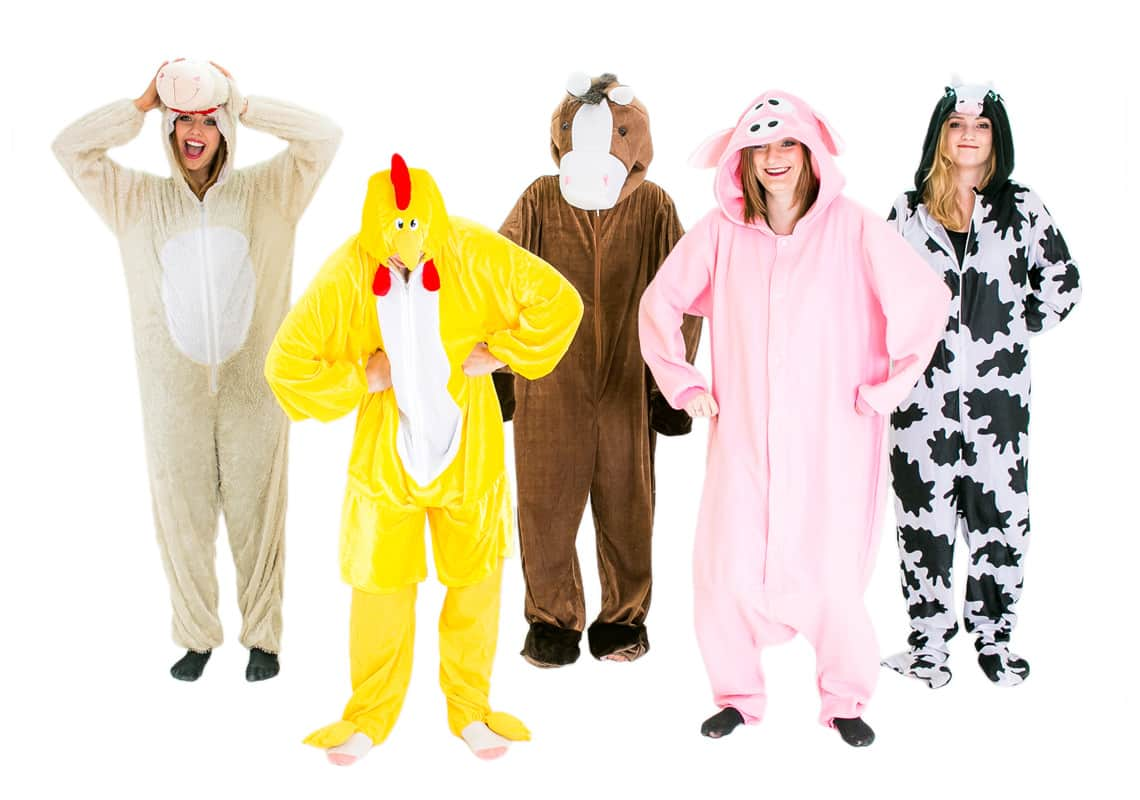 Five animals together