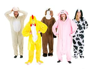 Farm animal themed outfits for hen parties