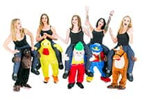 All five carry me costumes together