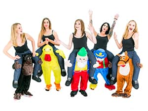 Carry me costume hen night theme