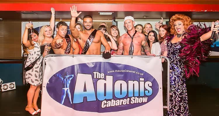 Us LNOF ladies posing with the Adonis Cabaret strippers