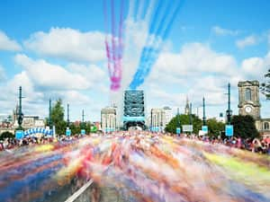 scene from the great north run