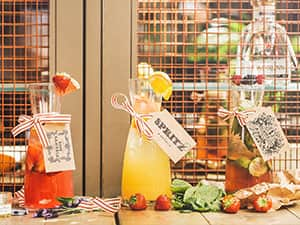 Cocktails from Pleased to Meet You in jugs