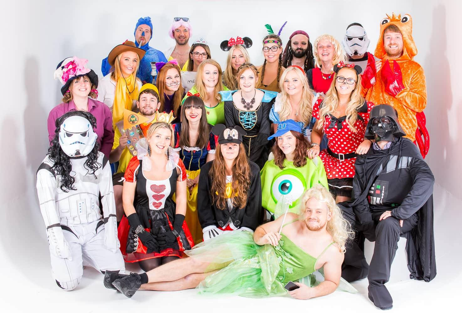 The staff at LNOF posing for a group shot in their Disney Day outfits