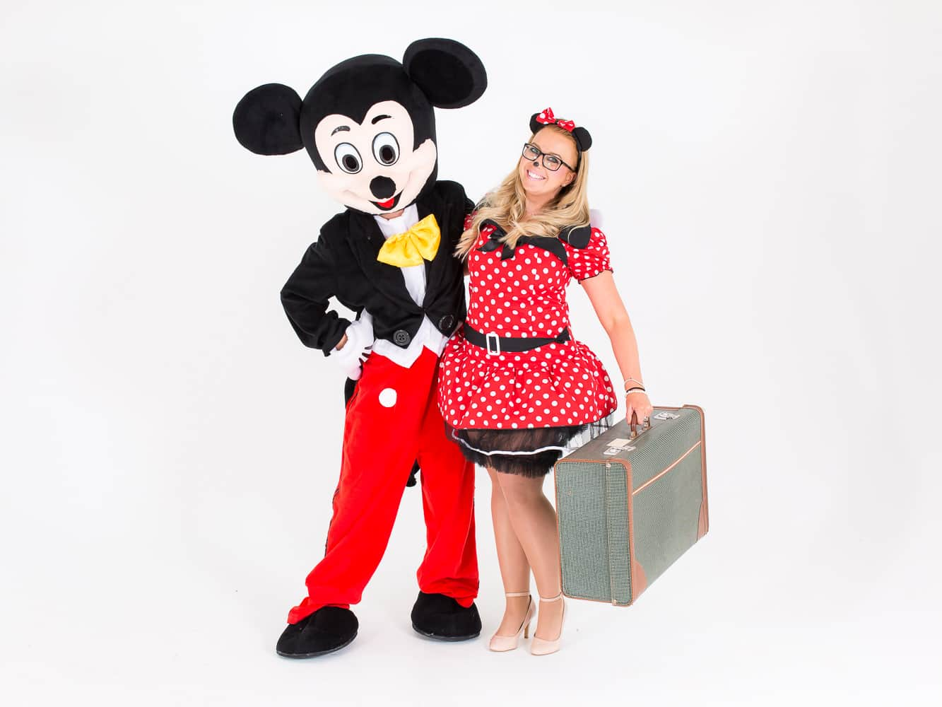 Two staff members from LNOF dressed up as Mickey and Minnie Mouse