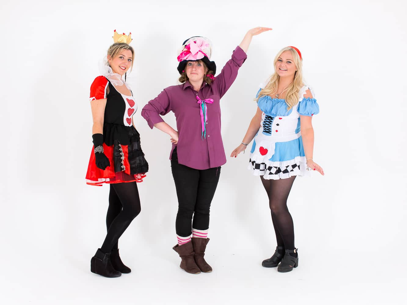 Some of the staff from LNOF dressed up as The Mad Hatter, the Queen of Hearts and Alice in Wonderland
