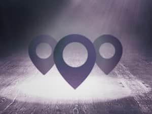 Three dark purple points