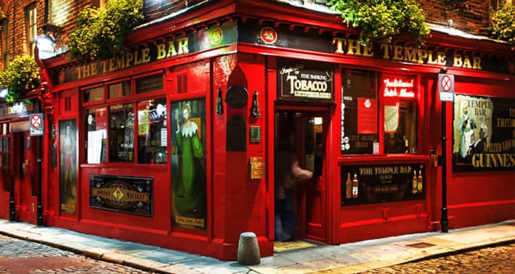 Exterior of the Temple Bar in Dublin