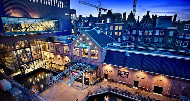The exterior of Melkweg club in Amsterdam