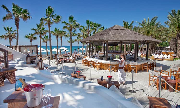 Nikki beach club in Marbella