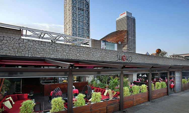 The exterior of Shoko on the Barcelona seafront