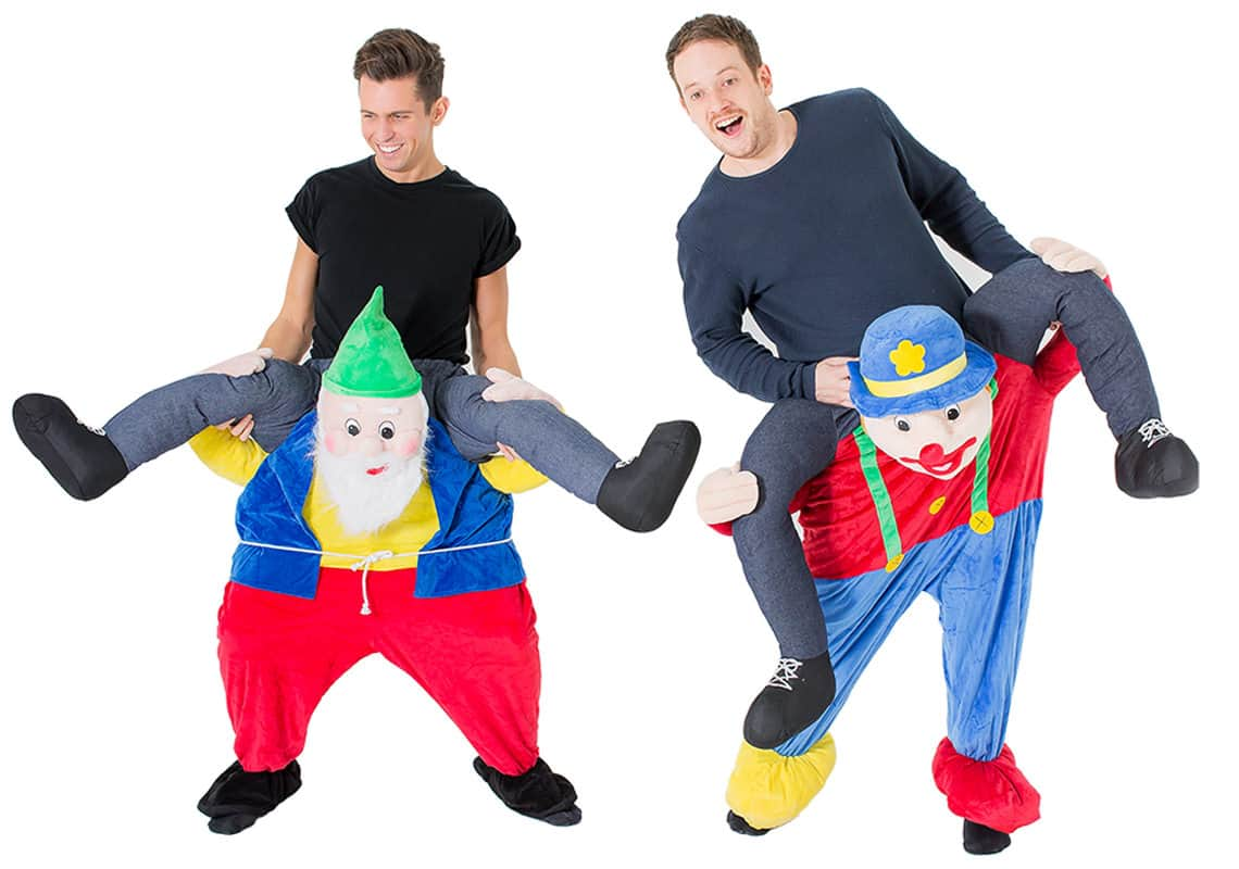 two men in carry me costumes
