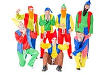 The gnome costumes are really bright