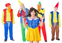The theme includes a drag Snow White outfit