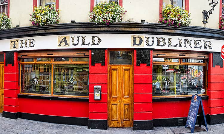 The exterior of The Auld Dubliner in Dublin