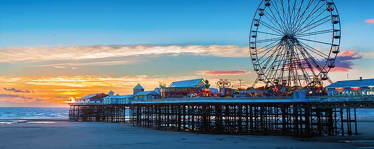 The Blackpool Pier with the Big Wheel in the background