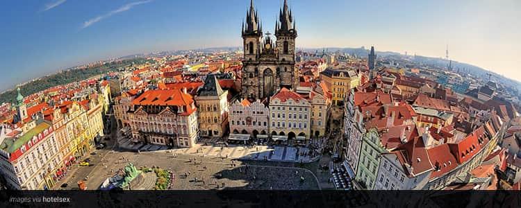 Prague Old Town from a bird's eye view