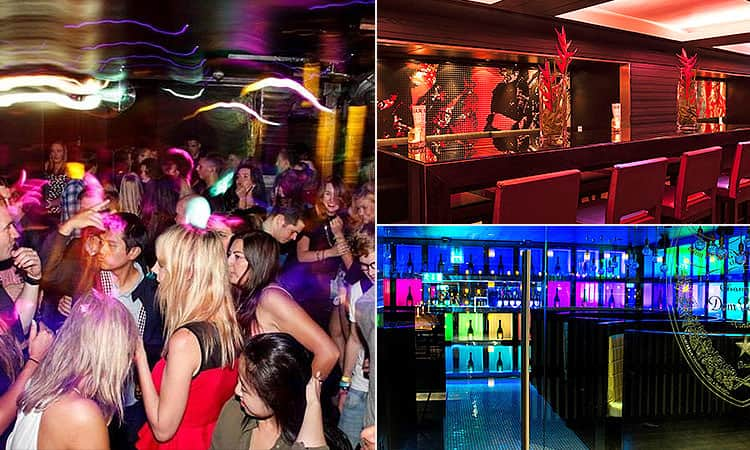 Three tiled images, one of people dancing in a club, and two of the interiors of Opal in Edinburgh