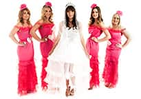 Gypsy Brides with Four Bridesmaids