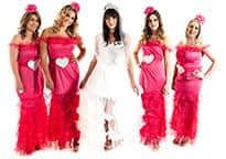 Gypsy Bride and Colourful Bridesmaids