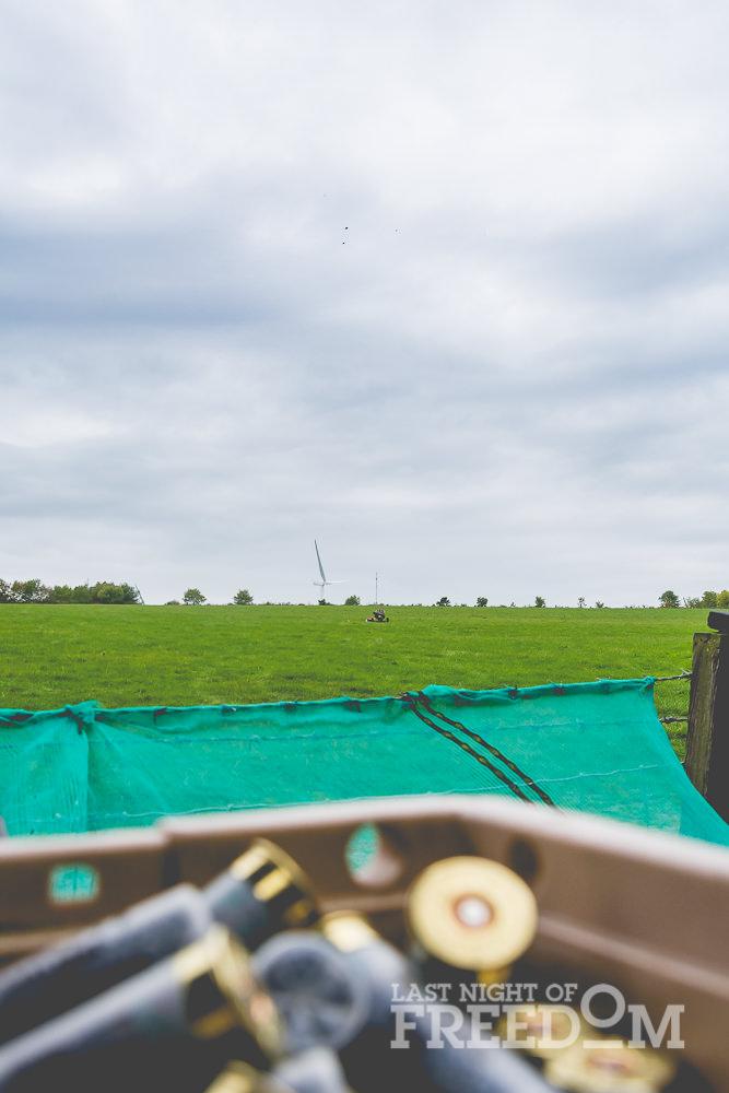 The clay pigeon firing range