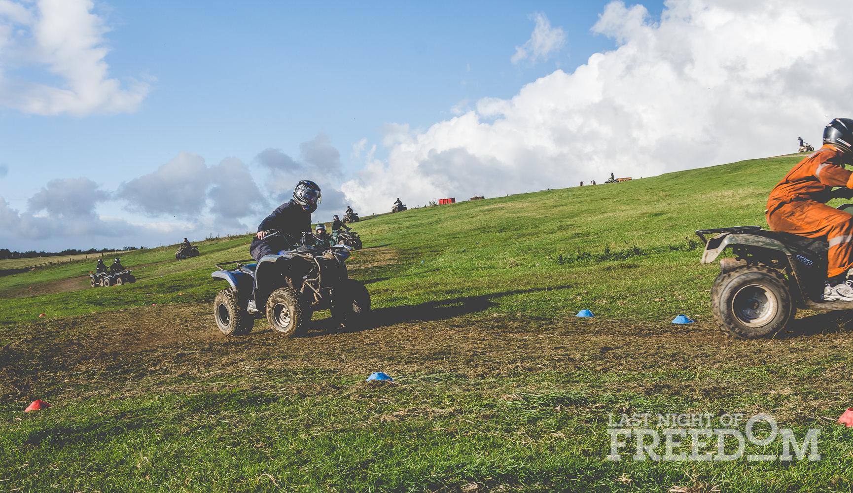 LNOF staff racing quads