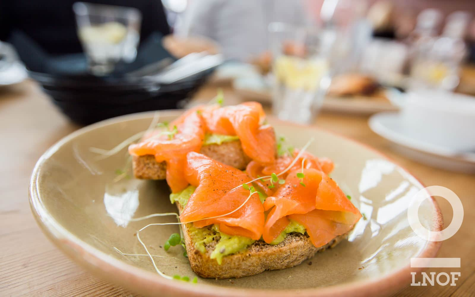 Smoked salmon and avocado on toast at Baltic Kitchen in Newcastle Gateshead