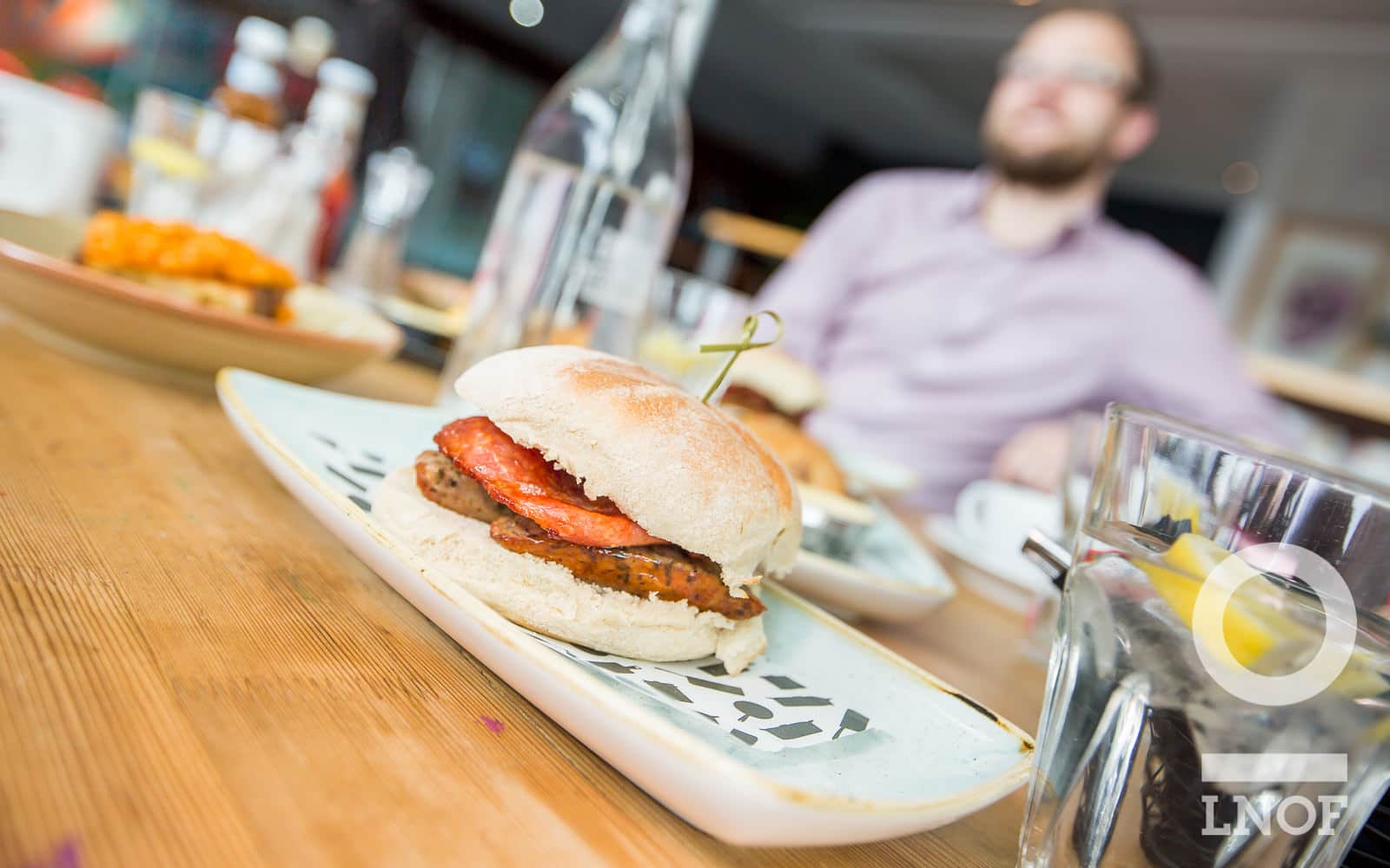 Sausage and bacon sandwiches at Baltic Kitchen in Newcastle Gateshead